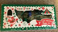 Vintage Safe-T-Glo Christmas Wired MULTICOLOR  String 7 Light Series Indoor
