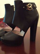 Brand New Authentic Michael Kors Black Leather Heels Size 9 RRP $198 US