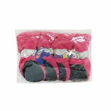 New listing Pink and Grey Waterproof rainboots dog puppy shoes pack of 4 Xs size 2 Pink/Grey