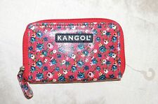 Kangol Floral Zip Zipped Purse Ladies Women Girls Flowers Wallet