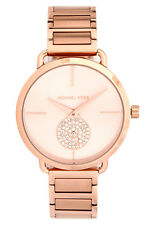 MICHAEL KORS PORTIA WOMENS WATCH MK3640 ROSE GOLD DIAL ROSE STRAP RRP £229.00