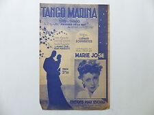 Partition Tango Marina de l'opérette Mélodie de la nuit MARIE JOSE