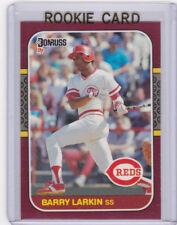 Barry Larkin ROOKIE CARD Donruss 1987 RC MLB Cincinnati Reds Baseball HOFer!