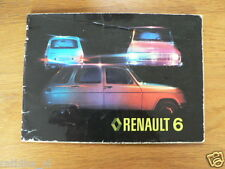 RENAULT 6 19??   HANDLEIDING OWNERS MANUAL,INSTRUCTION BOOK
