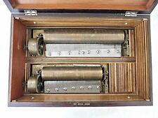 Rare Antique Swiss Double Cylinder Music Box