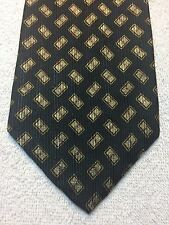 CALVIN KLEIN MENS TIE 4 X 58 BLACK WITH GOLD AND RED ACCENTS