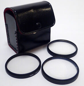 58MM TOSHIBA LENS FILTERS, NO.1, NO.2 & NO.4 w/ CASE, GREAT CONDITION, LOT OF 3