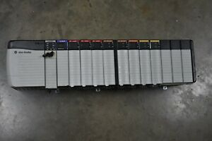 ALLEN BRADLEY CONTROLLOGIX LOADED 13 SLOT RACK COMPLETE  SYSTEM WITH 1756-L62