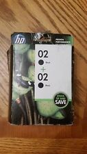 2 HP New Ink Cartridges 02 Black , Expiration 11/2014