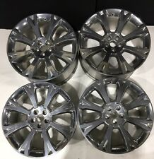 """Set Of 4 Jaguar XJ 20"""" Orona Alloy Wheels Polished Silver ideal for winter Tyres"""