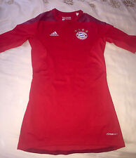 adidas Bayern Munich Women's Red Jersey Techfit Woman Sz S