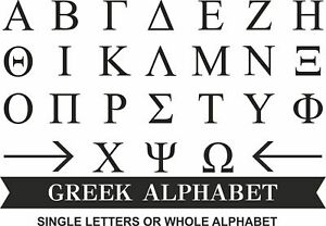 6mm Thick Greek Alphabet MDF Wooden Letters  Numbers 10 cm to Large 60 cm