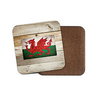 Welsh Flag Drinks Coaster Mat Square Cork Backed Tea Coffee #0026
