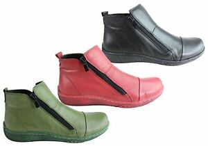 Brand New Orizonte Shani Womens European Comfortable Soft Leather Ankle Boots
