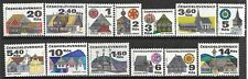 CZECHOSLOVAKIA SC 1733-41A MNH ISSUE OF 1971-2 - ARCHITECTURE