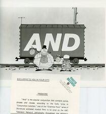 GRAMMAR ROCK CONJUNCTION JUNCTION SCHOOLHOUSE ROCK ORIGINAL 1973 ABC TV PHOTO