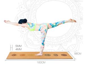 Portable Cork Yoga Non-Slip Exercise Mat Composite Environmentally Friendly