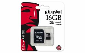 Original Kingston Canvas Select (16GB) MicroSD Card Class 10 UHS-1 U1 & Adapter
