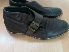 Brown Leather Ankle Boots Shoes Size 7