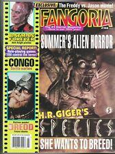 FANGORIA # 144 MAGAZINE HORROR FREDDY VS JASON HR GIGER SPECIES JUDGE DREDD