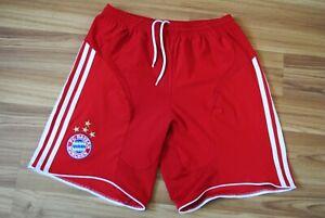 BAYERN MUNICH HOME 2007/08/09 ORIGINAL FOOTBALL SHORTS ADIDAS for 176 cm mens S