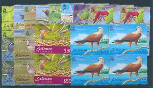 SOLOMON ISLANDS 2001 BIRDS DEFINITIVES SG976/987 BLOCKS OF 4 MNH