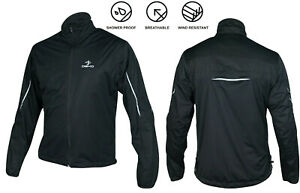 Men's Cycling Waterproof Rain Jacket Hi Visibility Running Full Sleeve Top Coat