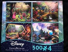 Disney Thomas Kinkade 4 In 1 Puzzle Multi Pack 500 Pc...