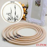 Wooden Cross Stitch Machine Embroidery Hoops Ring Bamboo Sewing Tools 13-27CM PK