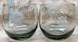 2 Vintage Green Bay Packers Smokey Tumbler Glass LARGE 16oz