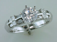 PLATINUM .54 KT Diamond Ring Semi Mount Everyday/Engagement /Wedding Ring