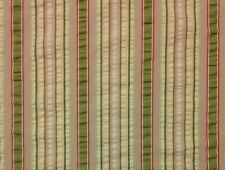 "COVINGTON ISLE STRIPE ANTIQUE BEIGE OLIVE WOVEN JACQUARD FABRIC BY THE YARD 54""W"