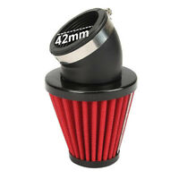 45° Bent Motorcycle Air Intake Filter 42mm inlet Pod Universal For Scooter ATV