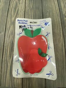 Vintage Shapes Etc Note Pad Buddies Apple and Smaller Apple