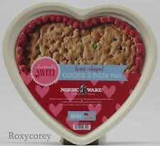 Valentine's Day Nordic Ware Heart Shaped Cookie & Pizza Pan 10x11 NWT
