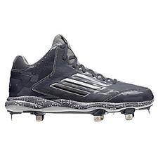 Nuevo Hombre Adidas Poweralley 2 Medio Béisbol Metal Tacos Onix / Carbon Talla