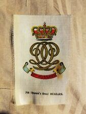 Vintage Tobacco silk silks Queens own Hussars