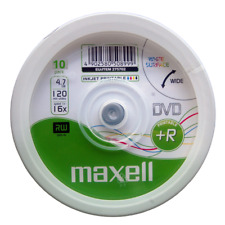 Maxell Printable DVD+R | Recordable Blank Discs Inkjet Sleeved 4.7GB/120Min/16x