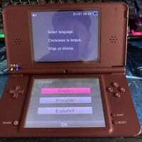 Maroon Red Nintendo DSi Handheld System Tested 22 Games Charger 128 Ss Card