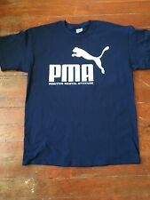 PUMA PMA Positive Mental Attitude Slogan mock NAVY shirt mens size M, L, XL, 3XL