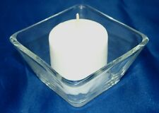 1-Votive/Tealight Candle Holder~With 15-Hour Votive Candle~WOW!~Thick Wall Glass