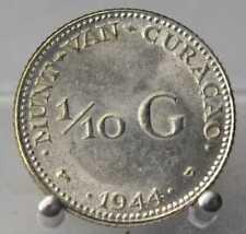 Niederlande, 1/10 Gulden 1944, Curacao, Wilhelmina