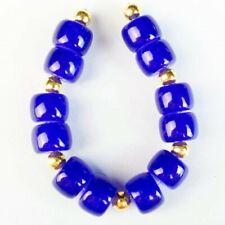 Column Pendant Bead W28470 12Pcs/Set 8x6mm Royal Blue Jade