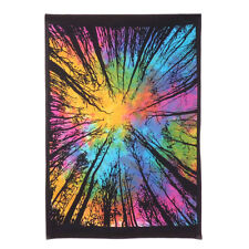 Indian Multi Tie Dye Dark Forest Painted Wall Poster Hippie Wall Decor Tapestry