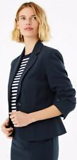 Bnwt M&S Womens Ladies Navy Blue Smart Blazer Tailored Jacket Size 14 rrp£35