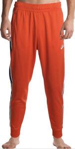 Nike Men's Orange Stripe Elastic Drawstring Waistband Varsity Pant Large AR2255