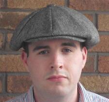 VICTORIAN PEAKY BLINDERS BAKER BOY NEWS BOY GATSBY GREY TWEED MARL FLAT CAP HAT