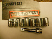 8 pc Snap ON Harley Davidson 3/8 socket set w/ extension Sportster Touring FLH