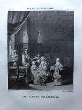 UNE FAMILLE NÉERLANDAIS Slingelandt Galerie du musée Napoléon Lavallée 1804-1815