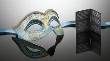 original venezianische Maske Karneval Maskenball Augenmaske Handmade türkis blau